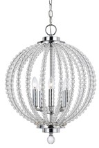 "Crystal Style Sphere & Chrome Pendant 5 Lights 15""Wx19""H - €387,48 EUR"