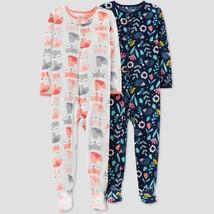 Carters 4T 2-pack Fleece Footed Pajamas Toddler Girl Footie PJs - $28.00