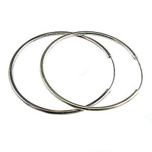 Large 90mm, 3.6 inch Endless Continuous Hoop Earrings 925 Sterling Silver - $1.172,47 MXN