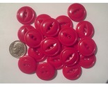 Auction 1048 button modern plastic red 1 1 4 2 hole thumb155 crop