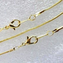 10 Necklace  Gold Plated Snake Chain 1.2mm -18 Inch - $16.00