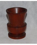 Antique Lathe Turned Mahogany Wood Classical Urn - $75.00