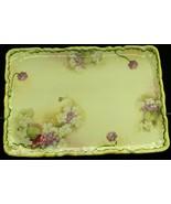 Vintage Porcelain The Yamato Nippon Dresser Vanity Tray Hand Painted Flo... - $39.99