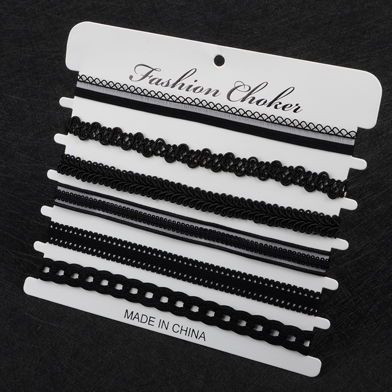 Kittenup 6Pcs/sets Fashion New Black Sexy Chokers Necklaces for Women image 4