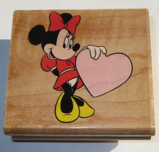 Sweetheart Minnie Mouse Rubber Stamp Heart Dress Disney Love Dress Bow i... - $10.88