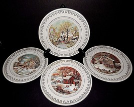 Roy Thomas Collection of Currier & Ives Winter Scenes 1978 JAPAN Set of 4 - $39.59