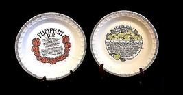 Ceramic Pie Plates AB 657 Set of 2 Vintage