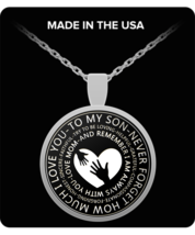 PREMIUM To My Son Necklace From Mom For Men - Mother Son Necklace Pendan... - $29.65