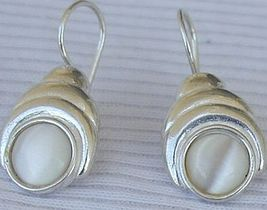 White moon earrings - $22.00