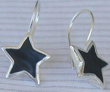 Black  earrings stars