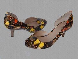 Tahari JANNA Jessie Butterfly Floral Patent Leather Peep-Toe Pumps Wms N... - $49.99