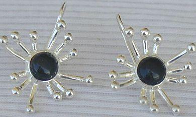 Black prickle earrings