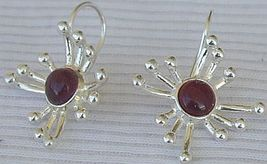 Red prickle earrings - $24.00