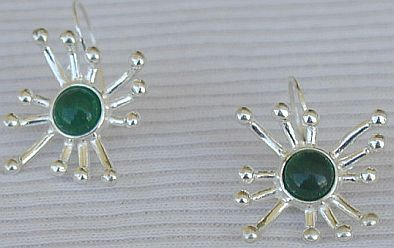 Primary image for Green prickle earrings