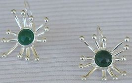 Green prickle earrings - $24.00
