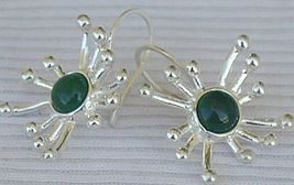 Green prickle earrings 2 thumb200