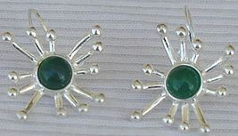 Green prickle earrings 3 thumb200