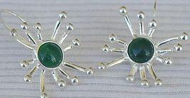 Green prickle earrings thumb200
