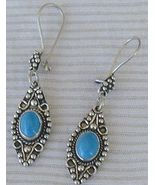 Turquoise dangling earrings - $18.00