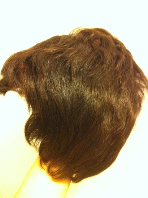 BROWN WIG short, wavy, auburn, excellent condition almost new originally $349+