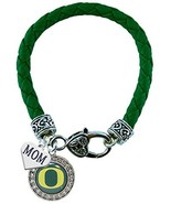 Holly Road Oregon Ducks Green Leather Bracelet with MOM Charm Jewelry UO - $16.82