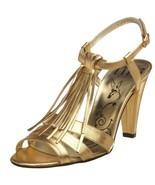 New TIBI fringed tasseled heels shoes Celine go... - $135.15