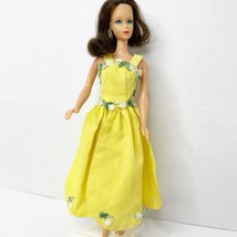 Vintage Clone Barbie Clothes Doll Outfit Full Length Yellow Petal Skirt ... - $67.72