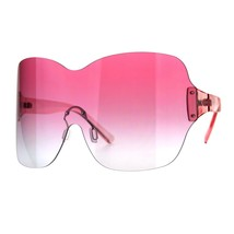 Womens Shield Goggle Sunglasses Rimless Super Oversized Cover Shades - $13.45