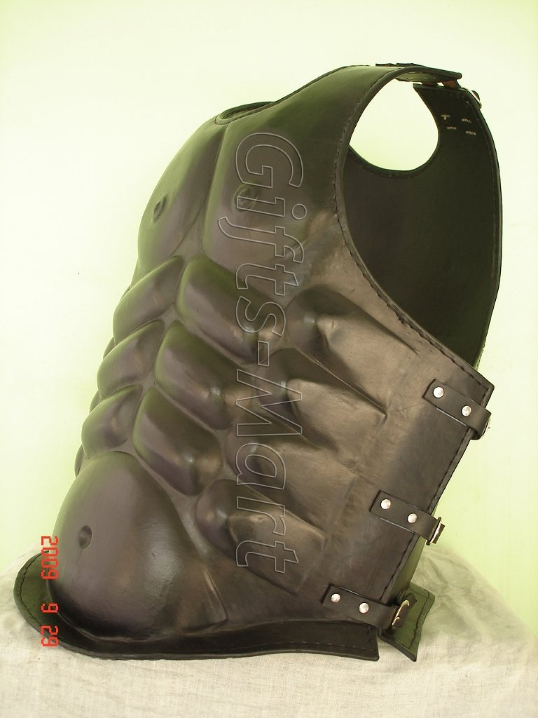 LEATHER BREASTPLATE CHESTPLATE BODY MUSCLE ARMOR ARMOUR, Larp Sca Reenactment