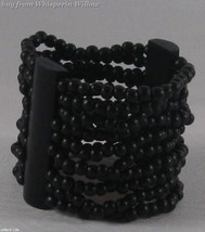 Black Wood  10 Row Stretch Fashion Bracelet - $19.95