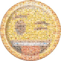 Emoji Lunch Dinner Plates Birthday Party Supplies 8 Per Package Happy Face New - $3.91