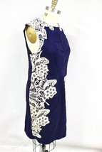Paper Dolls Women's Contrast Lace Dress Blue (Navy) US 18 NWT Slimming B... - $65.00