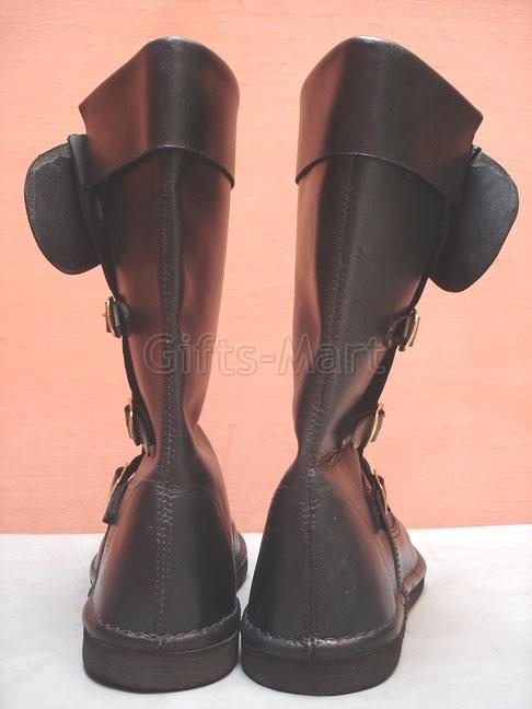 LEDER STIEFEL Larp Rüstung Ritterhelm Mittelalter. Medieval Boots, Shoes, Larp*