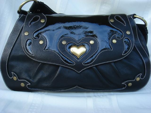 Moschino Black Patent Leather