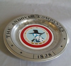 Pewter Plate Wilton The Andover Companies 1828 - $9.95