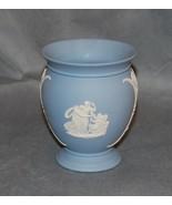 Wedgwood Blue White Jasperware Pottery Neo-Classical Vase 20th Century - $25.00