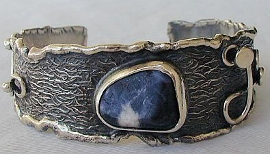 Natural lapis bangle