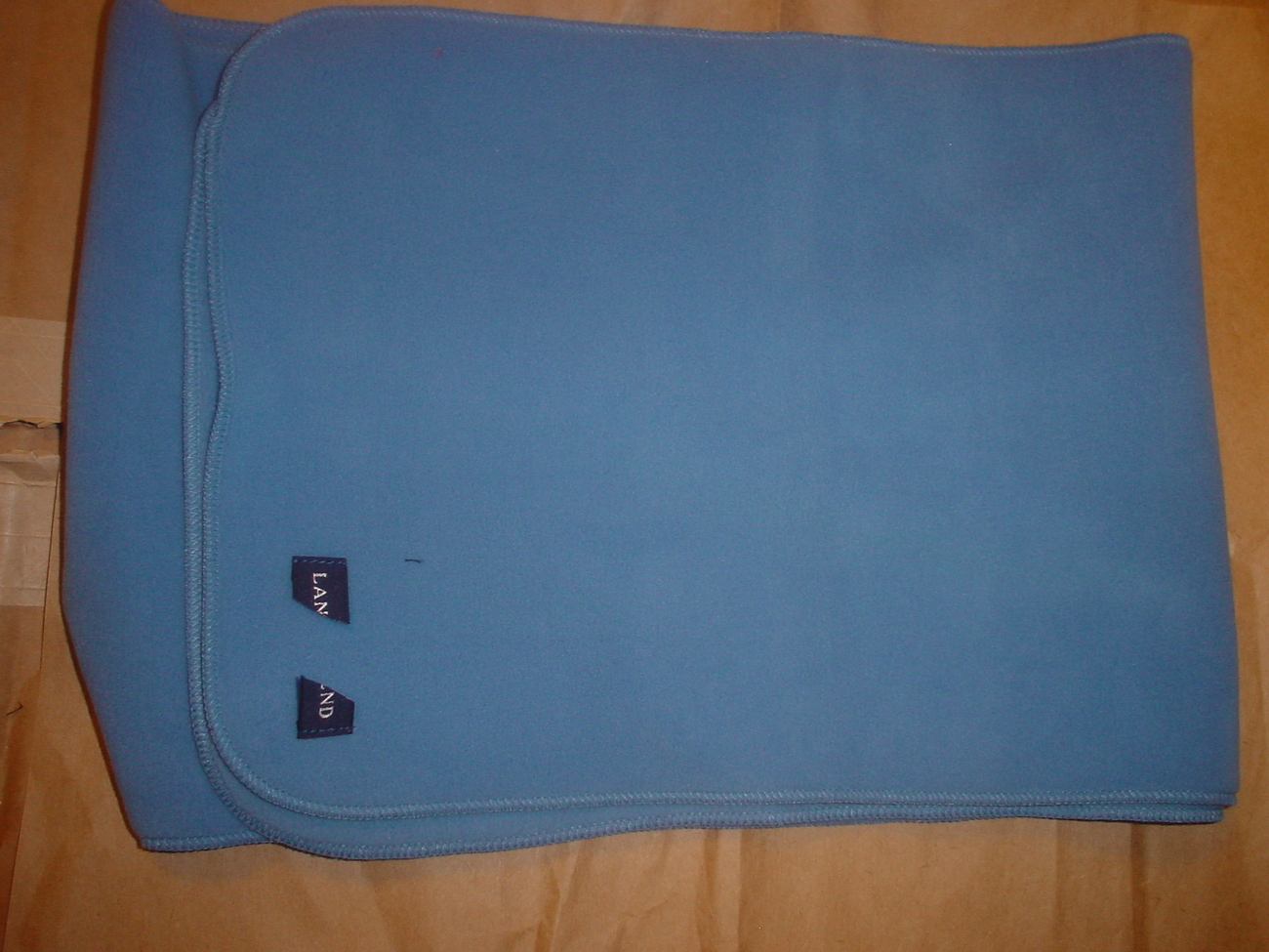 Land's End Fleece Scarf Blue NWOT