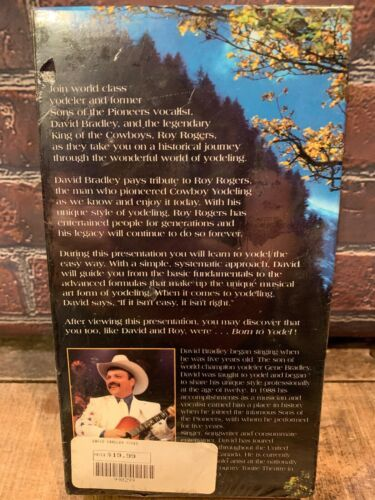 Born To Yodel David Bradley W/ Roy Rogers Nastro VHS Nuovo Sigillato