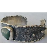 Green oxidized silver bangle  - $78.00