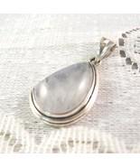 Moonstone, .925 Sterling Silver Pendant, 30mm - $39.00