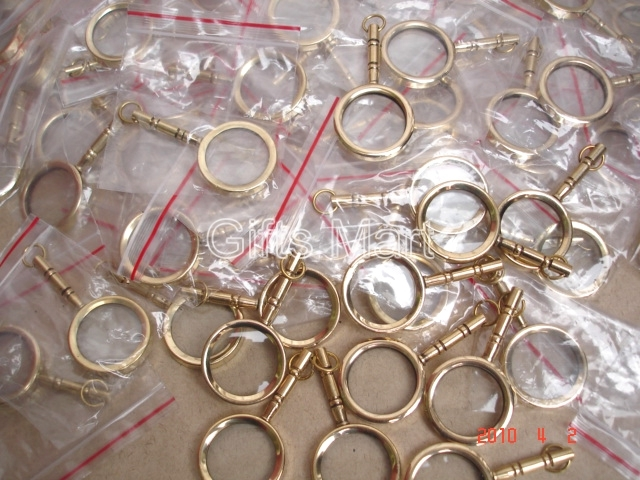 MAGNIFYING LENS BRASS KEY CHAIN NAUTICAL GIFT LOT OF 50 Wholesale Price VINTAGE