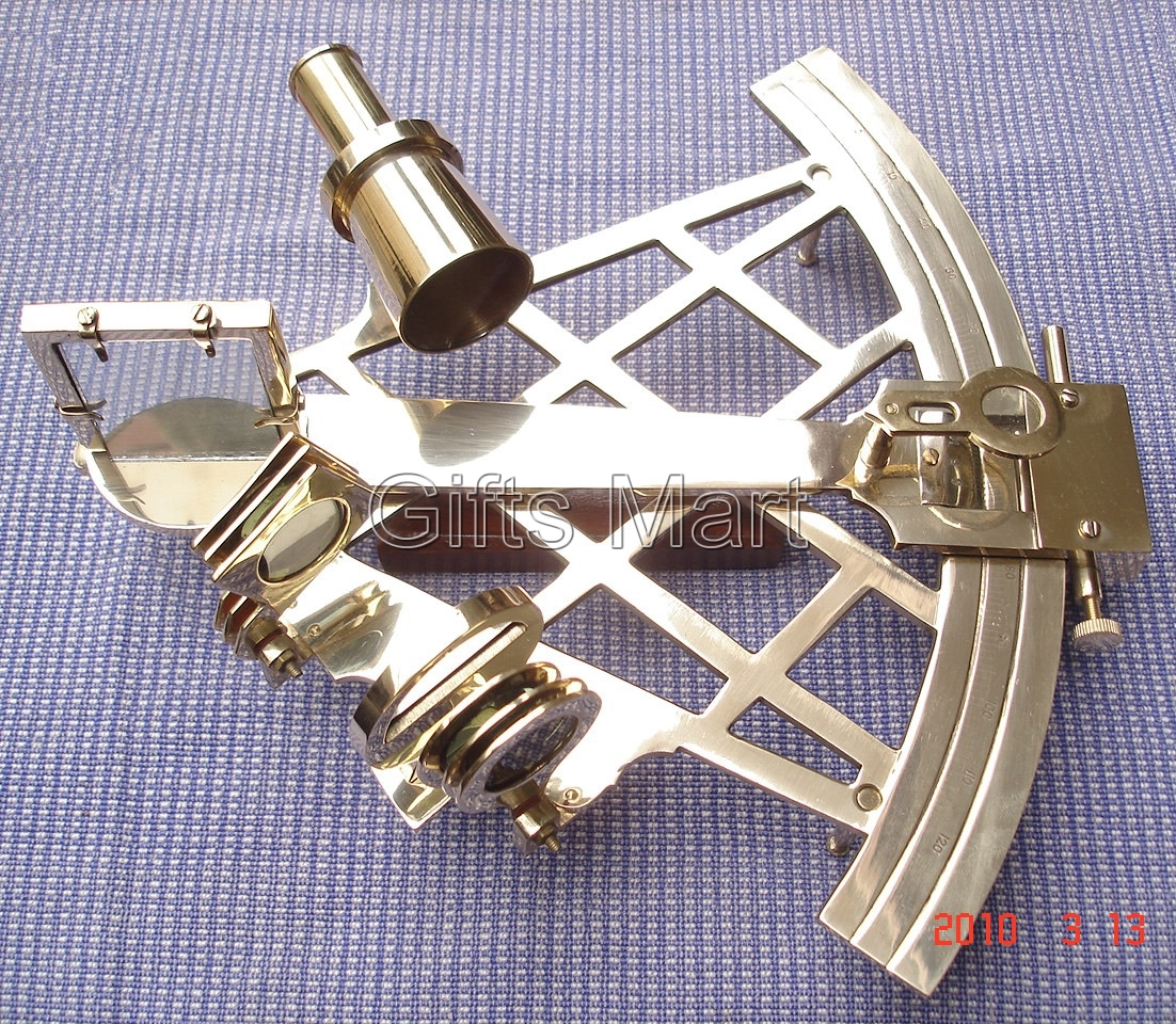 "Marine Captain Sextant – Brass Nautical Sextant 8"" , Maritime Colle"