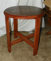 Round One Board Pine Side Table Plant Stand - $288.18
