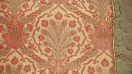 Brick Gold Print Jacquard Upholstery Fabric R302 - $27.23