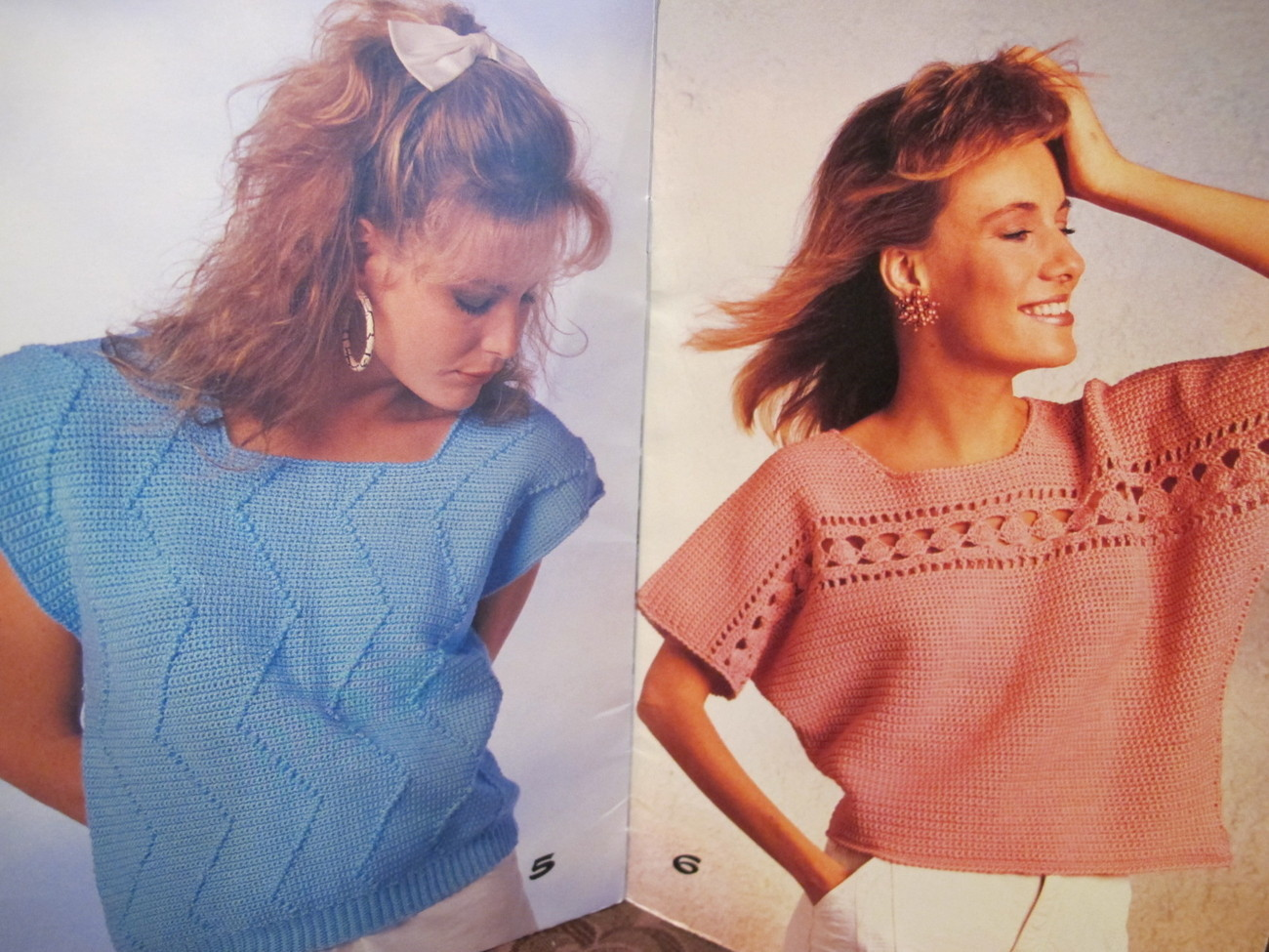Vintage Patons Crochet Crocheting Patterns Vest Pullover Sweaters ADULTS