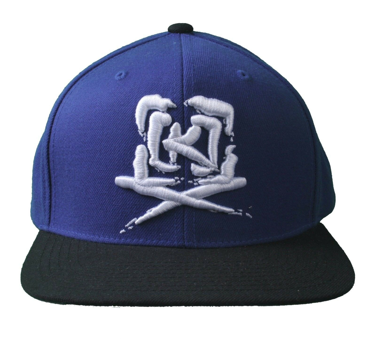 Kr3w Skateboarding Royal Blue Black Mark Starter Snapback Baseball Hat Cap NWT