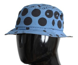 Dolce & Gabbana Blue Polka Cotton Silk Sun Hat 10572 - $83.85+