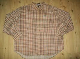 Ivy Crew Mens Shirt Size XXL Beige Plaid Long Sleeve Button Up Shirt Cl... - $23.53