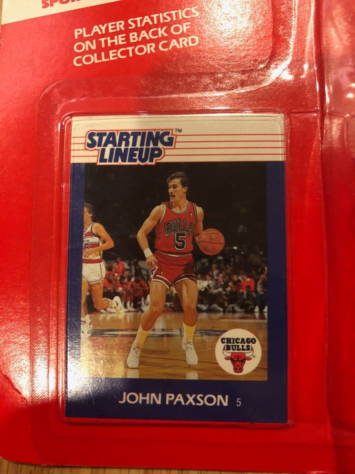 JOHN PAXSON Signed Chicago Bulls Starting Lineup Action Figure PHOTO JSA COA